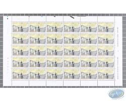 Planche de 30 timbres Le Petit Sablon
