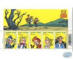 Planche de 5 timbres, Spirou
