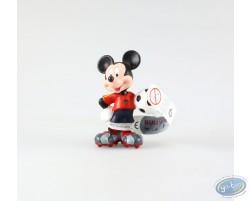 Mickey en tenue de foot, vareuse rouge, Disney