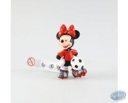 Minnie en tenue de foot, vareuse rouge, Disney