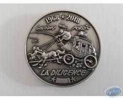 Médaille La Diligence et billet Eurosouvenir Lucky Luke avec le même numéro