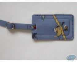 Porte-étiquette Tintin bleu