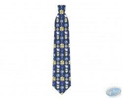 Cravate, Snoopy panneaux signalisation bleu / vert