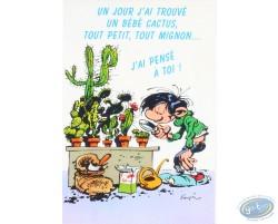 Carte-Poster Anniversaire - Un jour j'ai trouvé un bébé cactus, tout petit, tout mignon... J'ai pensé à toi !