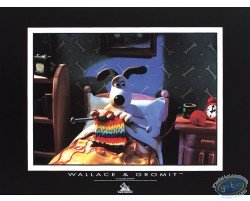 Gromit tricote au lit