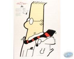 Pancarte déco. Dilbert cravate au vent