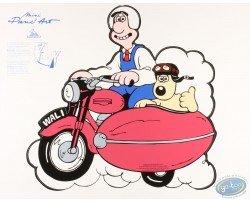 Pancarte déco. Wallace & Gromit side car
