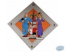 Horloge, Bob et Bobette (grise)
