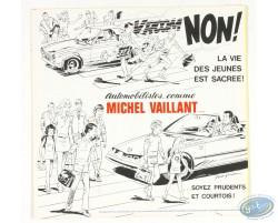 Disque concours Prévention routière Michel Vaillant / Eddy Merckx, Jacky Ickx et Joël Robert
