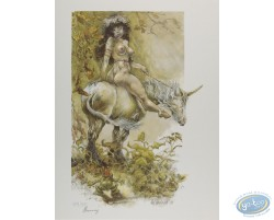 Femme sur Licorne