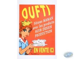 Affiche publicitaire 'Oufti' de Walthéry (Petit format)