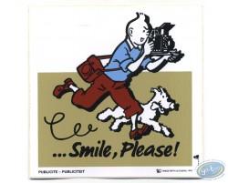 Autocollant publicitaire Smile Please Tintin - Beige