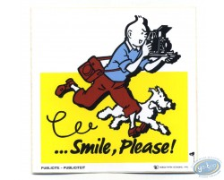 Autocollant publicitaire Smile Please Tintin - Jaune