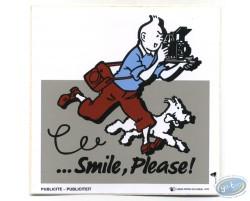 Autocollant publicitaire Smile Please Tintin - Grise