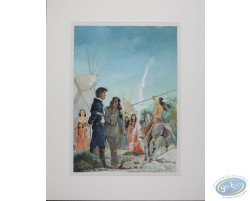 Peinture originale, Ferry - Capturé par les indiens