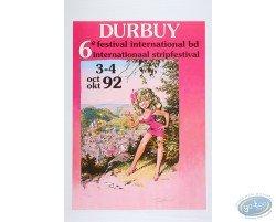 Affiche publicitaire '6ème Festival International BD de Durbuy 1992' par Dany Numéroté et signé !