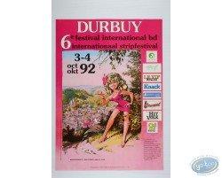 Affiche publicitaire '6ème Festival International BD de Durbuy 1992' par Dany