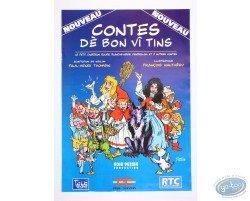 Affiche publicitaire 'Contes dè bon vî tins' par Walthéry