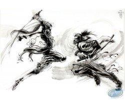 Dessin original - Combat