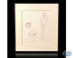 Crayonné - présentation des proportions de Corto Maltese - Hugho Pratt