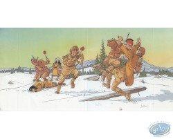 Combat dans la neige
