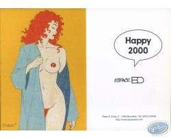 Carte de voeux : Rousse dénudée Happy 2000