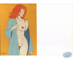 Carte de voeux : Rousse dénudée