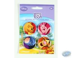 4 badges Winnie l'Ourson et ses amis, Disney