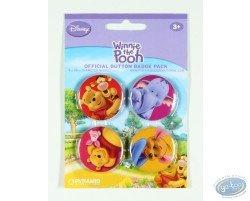 4 badges Winnie l'Ourson et ses amis, Disney (2è version)