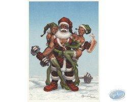 Père Noël culturiste