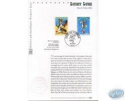 Carte 1er jour 2 timbres, Lucky Luke