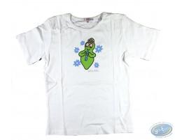 T-shirt manches courtes blanc Barbapapa pour enfant : taille 92/98, flûte