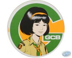 Sticker autocollant Le sourire de Yoko Tsuno, CGB