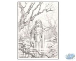 Femme dans les marais