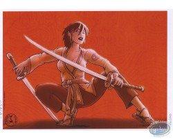 Femme avec katanas