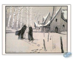 Marchant dans la neige