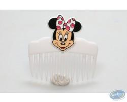 Peigne blanc tête de Minnie de face, Disney