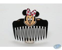 Peigne noir tête de Minnie de face, Disney