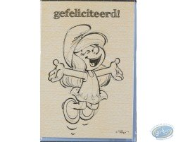 Carte double+enveloppe GEFELICITEERD