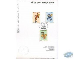 Carte 1er jour 3 timbres, Spirou