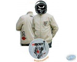 Sweat zippé,  NO RACKET - Sable - XXL