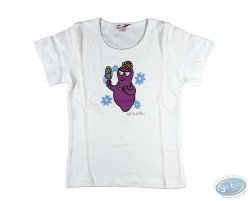 T-shirt manches courtes blanc Barbapapa pour enfant : taille 92/98, miroir