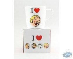 Mug en céramique, I love Castafiore