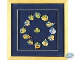 Cadre, assortiment 13 pin's 1993