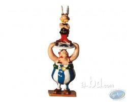 Mini : Obélix portant Astérix sur un bouclier