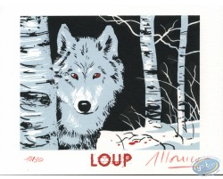 Loup dans la forêt