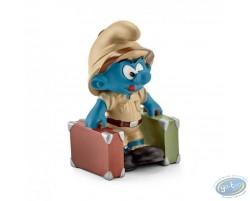 Schtroumpf explorateur avec valises