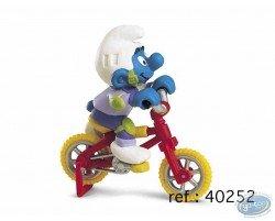 Schtroumpf à vélo acrobatique