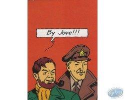 Carte publicitaire Blake et Mortimer par Le Soir
