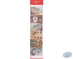 Planche de 6 timbres, Musée de la Poste
